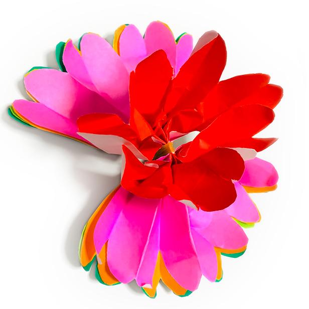折り紙「お花」作り方4